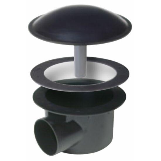 Tófenék ürítő 21,5 cm átmérőjű, DN100-as csatlakozó